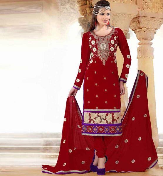 PARTY WEAR SALWAR KAMEEZ ONLINE SHOPPING IN INDIA MAROON COTTON & NET