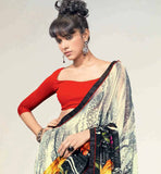 AESTHETIC MULTICOLOR PRINTED GEORGETTE SAREE RTNK5801
