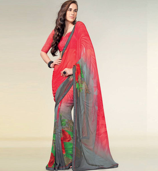 PRINTED GEORGETTE CASUAL SAREE
