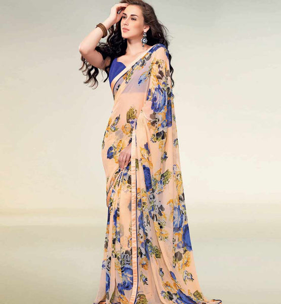 AMAZING PRINTED GEORGETTE SAREE RTNK5804