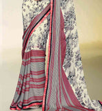 CLASSY PRINTED SATIN & GEORGETTE SAREE RTNK5805