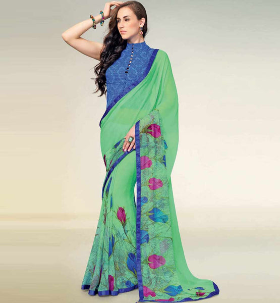 ATTRACTIVE PRINTED GEORGETTE SAREE RTNK5810