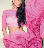CAPTIVATING PINK GEORGETTE SAREE RTNK5815