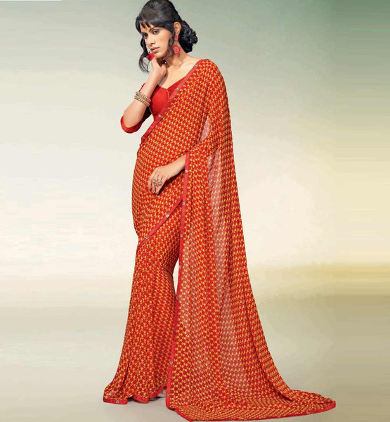 MAJESTIC MAROON GEORGETTE SAREE RTNK5817