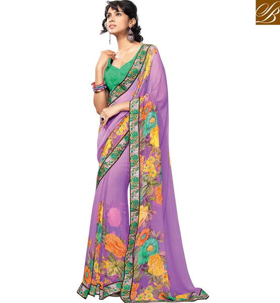 A STYLISH BAZAAR PRESENTATION SPLENDID GEORGETTE SARI BLOUSE DESIGN RTKUN5830