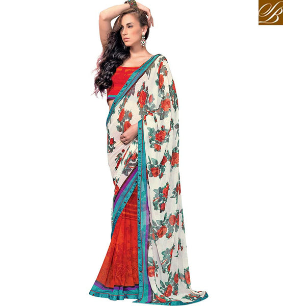 WONDERFUL PARTY WEAR SARI DESIGN RTKUN5843 BY A STYLISH BAZAAR PRESENTATION
