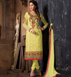 2015 DESIGN LADIES WEAR SALWAR KAMEEZ DRESS MATERIAL SHOP ONLINE YELLOW