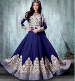 EVERSTYLISH AYESHA TAKIA BLUE GOWN STYLE ANARKALI SALWAR KAMEEZ WITH DUPATTA