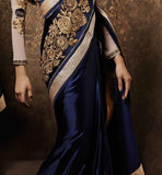 DESIGNER SAREES ONLINE SHOPPING FOR WEDDINGS LATEST FASHION PURE SATIN