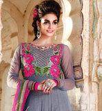 EMBROIDERY & KHATLI WORK ANARKALI DRESS WITH DIAMOND WORK DUPATTA RMPR05