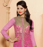 EXCELLENT PINK DESIGNER SALWAR SUIT WITH ZARI & MOTI WORK