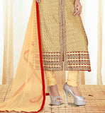 EXCELLENT STYLE SHORT JACKET LOOK DESIGNER EMBROIDERED SALWAR KAMEEZ