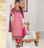 ONLINE SHOPPING SALE PURE COTTON SALWAR KAMEEZ CHIFFON DUPATTA STYLISH BAZAAR INDIA