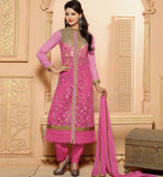 PARTY WEAR SALWAR SUITS SELECTION STRAIGHT CUT ZARI & BEADS DESIGNING