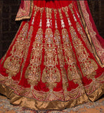 Red bridal lehengas online shopping