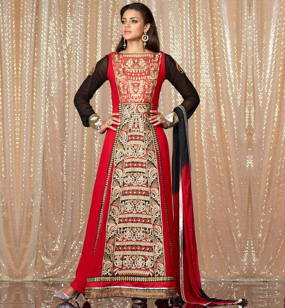 FULL LENGTH DESIGNER PARTY WEAR ANARKALI SALWAR KAMEEZ SUIT INDIA