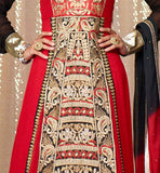 RICH EMBROIDERY WORK ANARKALI DRESS IMAGE