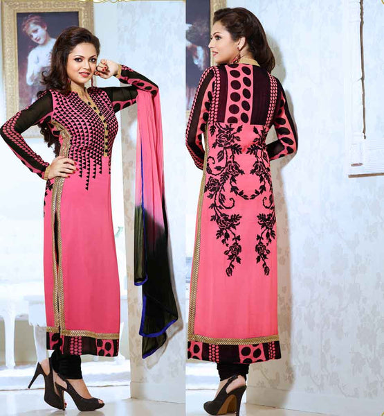 MADHUBALA SERIAL DRASHTI DHAMI DRESS PINK