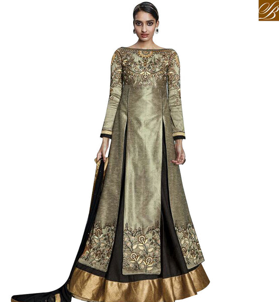 STYLISH BAZAAR RICH LOOKING LEHNGA STYLE DESIGNER SUIT KYR6001