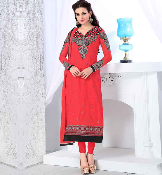 BEST OFFER ON LATEST INDIAN PARTY WEAR SALWAR SUIT WITH CHUNARI