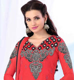 HIGH CLASS KARACHI PATTERN LIGHT RED PARTY WEAR SALWAR SUIT