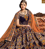 FROM THE HOUSE OF STYLISH BAZAAR GRACEFUL PURPLE COLORED WEDDING WEAR LEHENGA CHOLI RTHYB6002