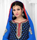SIGHTLY PUNJABI STYLE BLUE PARTY WEAR SALWAR SUIT