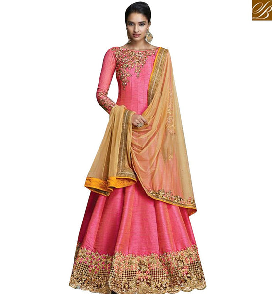STYLISH BAZAAR OUTSTANDING ANARKALI STYLE DESIGNER SUIT WITH ATTRACTIVE EMBROIDERED WORK KYR6003