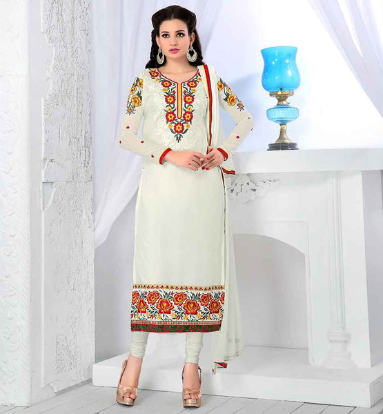 BARGAIN PRICE SHOPPING GEORGETTE PARTY WEAR SALWAR SUIT & CHUNARI
