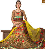 STYLISH BAZAAR PRESENTS ADMIRABLE MULTICOLORED DESIGNER WEDDING WEAR LEHENGA CHOLI RTHYB6004