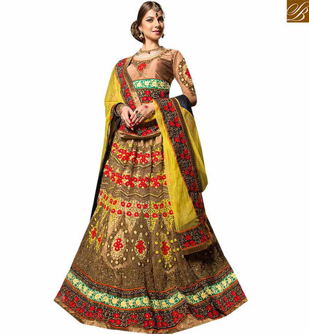 STYLISH BAZAAR ADMIRABLE MULTICOLORED DESIGNER WEDDING WEAR LEHENGA CHOLI RTHYB6004