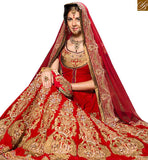 FROM THE HOUSE OF STYLISH BAZAAR RAVISHING RED COLORED PERFECT WEDDING WEAR LEHENGA CHOLI RTHYB6005
