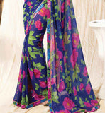 Casual printed sarees online shopping