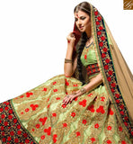BROUGHT TO YOU BY STYLISH BAZAAR MARVELLOUS NEON GREEN COLORED DESIGNER WEDDING WEAR LEHENGA CHOLI RTHYB6006