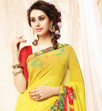 GORGEOUS YELLOW OFFICE WEAR SARI