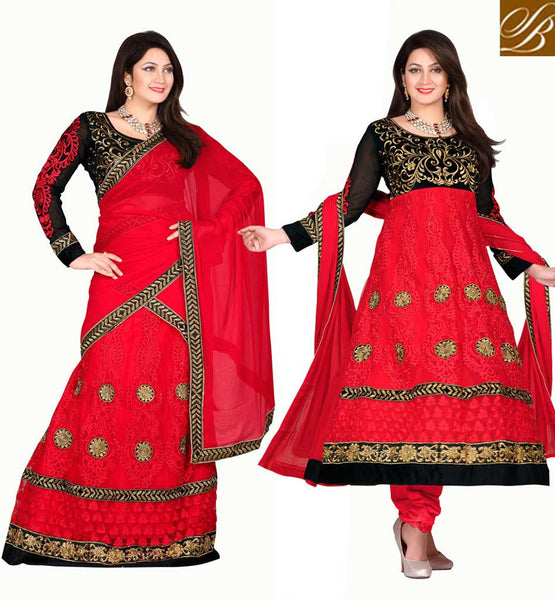 FUSION DRESS THAT CAN BE STITCHED IN 2 STYLES EID 2015 SPECIAL DRESS FOR INDIAN & PAKISTANI LADY