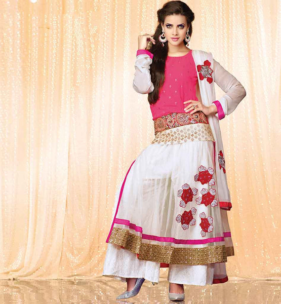 FLORAL EMBROIDERY PATTERN PARTY WEAR SALWAR KAMEEZ DRESS FOR WOMEN