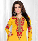 HOT N HAPPENING YELLOW PARTY WEAR SALWAR SUIT