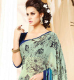 RICH PRINT SARI WITH BLOUSE THAT YOU CAN WEAR AT WORK PLACE