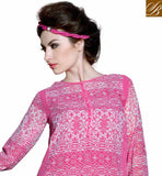 ENTICING PINK LATEST DESIGNER KURTI FOR PARTIES RTBLM601
