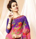EASY ON EYES PRINTED GEORGETTE SARI