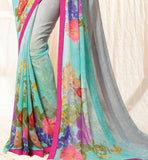 pretty georgette casual wear sari by stylish bazaar