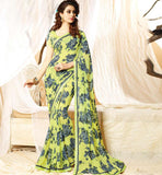 PURCHASE GEORGETTE CASUAL WEAR SAREES WITH MATCHING BLOUSE PIECE
