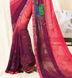 good-looking georgette casual wear saree by stylishbazaar