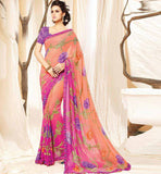 LATEST FASHION 2015 DESIGN EYE CATCHING PRINT OFFICE WEAR SAREE