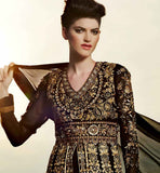 BLACK & GOLD ANARKALI KMV6601 KIMORA 6 601 | STYLISHBAZAAR