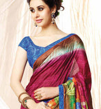 MODERN OFFICE WEAR COLORFUL PRINTED SARI