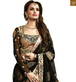 FROM THE HOUSE OF STYLISH BAZAAR ATTRACTIVE PARTY WEAR CREAM DESIGNER SARI RTMYS6022