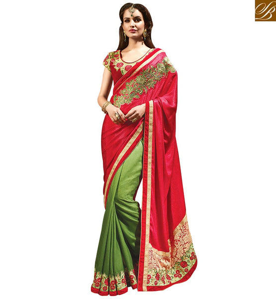 STYLISH BAZAAR DAZZLING FLORAL BLOUSE INDIAN SARI DESIGN ONLINE SHOPPING RTMYS6026
