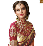 FROM STYLISH BAZAAR ELEGANT DESIGNER RECEPTION WEAR SARI BLOUSE PATTERN RTMYS6028